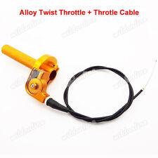 1/4 turn CNC Twist Throttle Cable For Suzuki DR 100 125 200 Motocross Dirt Bike