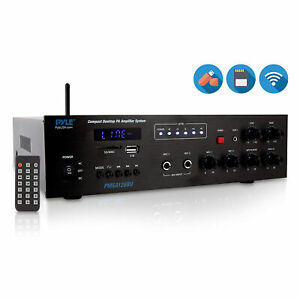 Pyle Bluetooth Compact PA Speaker & Microphone Receiver Address Amplifier System