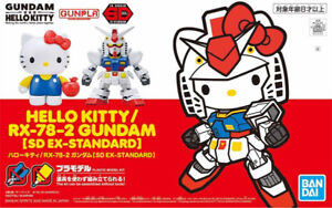 BANDAI SD EX-Standard plastic model kit Hello Kitty RX-78-2 Gundam AU STOCK