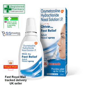 Otrivin Oxy Fast Relief Adult Nasal Spray 10ml Fast Royal mail