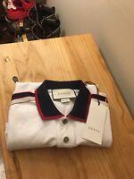 NWT Mens Gucci White Polo Shirt M