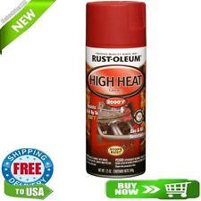 Automotive High Heat Degree Spray Flat Red Rust Paint Rustoleum Stops Resistant