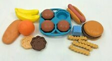 Vintage Fisher Price Play Pretend Food Lot Muffin Hot Dog Banana Cookie Fries