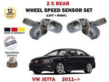 FOR VW VOLKSWAGEN JETTA 2011->NEW 2 X REAR LEFT + RIGHT WHEEL SPEED SENSOR