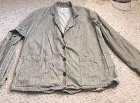 Flax By Jeanne Engelhart Womens Button-Up Tunic, Leopard Print Cotton Shirt Sz S