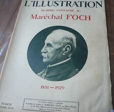 Revue L' ILLUSTRATION 1929, Maréchal Foch…