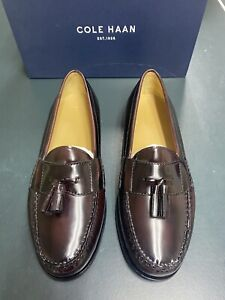 Men's Cole Haan Pinch Tassel Dress Shoes size 11 EEE Wide Burgundy New With box