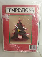 Christmas Tree Shelf Plastic Canvas Kit / Temptations / J & L Craft Designs 1990