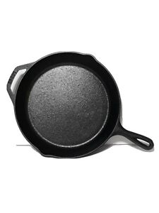 """Lodge 10SK 12"""" x 2""""  High, Cast Iron Double Lib Skillet USA Made"""