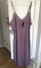 NEW Forever 21 Red White Stripe Rib Maxi Dress Size XL Large