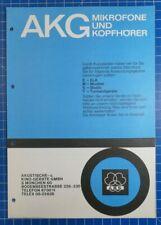 AKG Mikrofone und Kopfhöhrer H1823