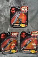 1998 Hasbro STAR WARS EPISODE 1  DELUXE FIGURE LOT  Darth Maul  Obi-Wan  Qui-Gon