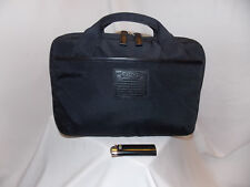 COACH Tablet Kindle Satchel Case NICKEL Black Canvas Leather NEW