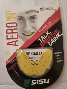 SISU NextGen Aero Guard 1.6mm Mouthguard All Sports Yellow