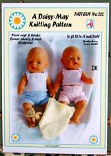 DOLLS KNITTING PATTERN for BABYBORN BY Daisy May No 282 16 to 17 inch doll