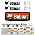 E10 DECALS, E10 Stickers, Bobcat E10 Decal STICKER Kit Mini Excavator