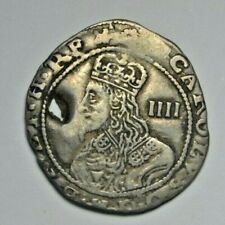 More details for charles i, groat 1644, exeter mint, mm. rose, pierced (as a royalist badge ?)