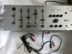 American Audio Professional Preamp Mixer (GS) DX-4 with power cord and cables