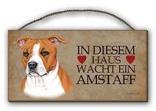 Le Staff-holzschild + tasse dans le SET American Staffordshire Terrier 01