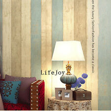 Realistic Wood Timber Panel Stripe Kids Boys Children Baby Study Room Wallpaper