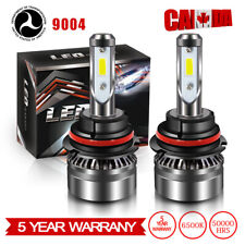 COB 9004 HB1 LED Headlight Bulb Kit Hi/Lo Beam For 2000-2003 Dodge Ram 1500 Van