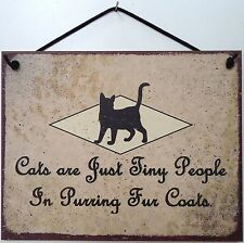 Cat Sign Playful Fun Fur Purring Pet Kitty Kitten Feline Coat Post  Decor Plaque
