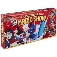 Magic Show Illusionist Set Toy Magician Kit Kids Children Fun 100-Trick Suitcase