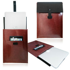Smart BROWN PU LEATHER Felt Vertical Sleeve, Carrying Case, for Apple Macbook