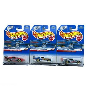 Hot Wheels 1999 First Editions 1996 96 Oldmobile Olds Aurora GTS-1 1/64 Lot of 3