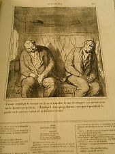 HD 3796 DAUMIER 1868 Do pretending to be asleep car il would be capable