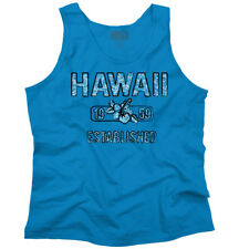 Hawaii Hibiscus Vintage Gym Workout Souvenir Adult Tank Top Sleeveless T-Shirt