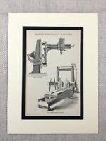 1880 Antico Stampa Vittoriano Ingegneria Meccanico Strumenti Machine 19th Secolo
