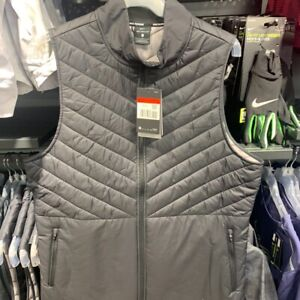 Nike Aerolayer Thermal Running Gilet Vest Full-Zip Black Size: SMALL