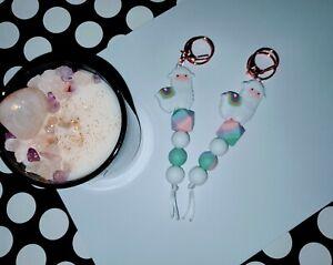 Llama Keychain/keyring/silicon bead/gift/bag tag