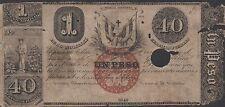 Dominican Republic 20 Pesos /1 Peso / 40 Centavos 1848  P 6  Circulated Banknote