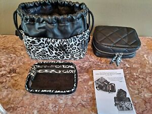 TRISH MCEVOY Makeup Planner collection Bag Carrying Case NEW animal print