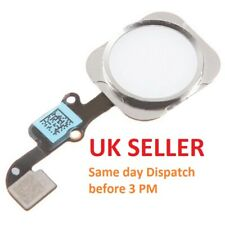 For iPhone 6 Home Button Menu Button White & Silver Replacement With Flex Cable