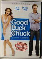 Good Luck Chuck (DVD, 2008, Unrated - Widescreen) Jessica Alba, Dane Cook