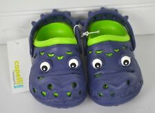Toddler Boys CAPELLI Kids Sz 4 5 Blue Green Alligator Slip On Clogs Shoes NEW