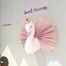 3D Lovely Pink Crown Swan Wall Hanging Toy Baby Kids' Room Wedding home Decor