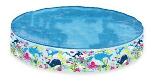 Rigid Sides Seaworld Design Swimming Paddling Pool, Multi-Colour, 47-Inch Summer