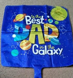 """Fathers daysquare shape 18"""" foil balloon suitable for helium or air fill"""