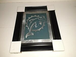 """Miami Dolphins NFL Laser Cut Framed Logo by Memory Company 11"""" x 13"""""""
