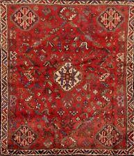 Vintage Nomad Geometric Lori Hand-Knotted Area Rug Oriental Tribal Carpet 4'x5'