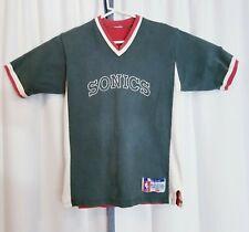 Vintage 90s Champion Seattle SuperSonics Sonics Official Medium M Shooting Shirt