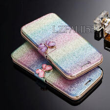 Glitter Luxury Magnetic Flip Bling Leather Case Cover For Apple iPhone 8 7 Plus