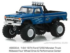 Greenlight 1974 Ford F-250 Monster Truck Midwest Four Wheel Drive Center 49030A