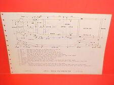 1955 1956 PLYMOUTH BELVEDERE FURY SAVOY PLAZA SUBURBAN FRAME DIMENSION CHART
