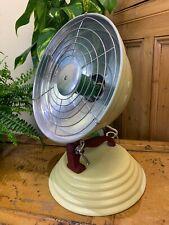 VINTAGE 1930S 1940S BARBER HEALTH LAMP RETRO CREAM RED ENAMELLED HEATER DECOR