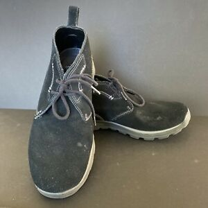 SKECHERS Mens Canvas Relaxed Fit Memory Foam Size 10.5 Leather Suede Boots Shoes